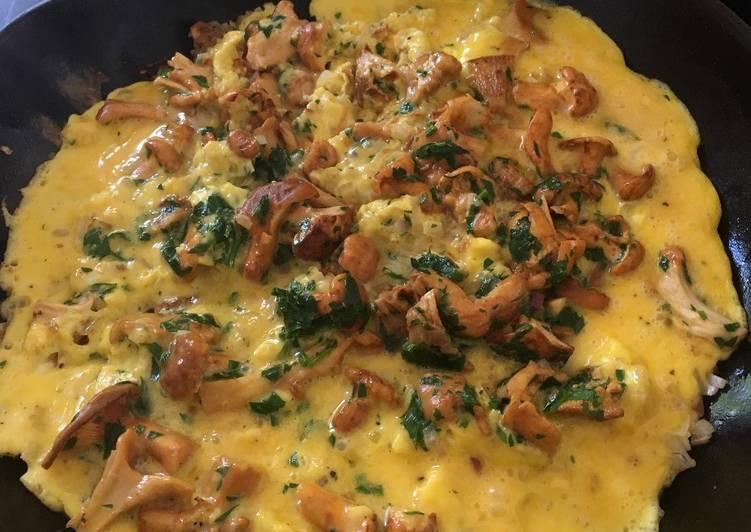 Omelet med kantareller