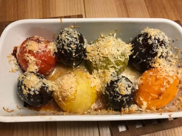 Ristede tomater og auberginer