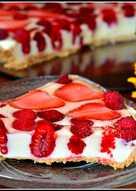 Tarta biało-czerwona