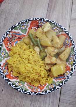 Curry z kurczaka z ananasem