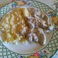 Ψαρονέφρι με κρέμα γάλακτος & μανιτάρια