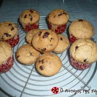 Muffins με σοκολάτα και ρούμι