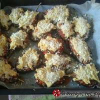 Μελιτζάνες παπουτσάκια με πουρέ πατάτας