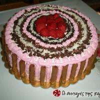 Τούρτα Σοκολάτα - Φράουλα
