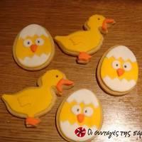 Cupcakes ή μπισκότα κοτοπουλάκια