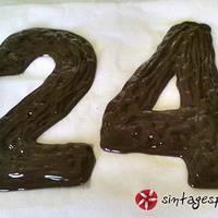 Σοκολατένιοι πολύχρωμοι αριθμοί