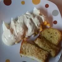 Βραστά αυγά με μαγιονέζα και γιαούρτι