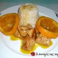 Κοτόπουλο με πορτοκάλι και μέλι