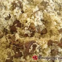 Συκώτι ή συκωταριά στο φούρνο με ρύζι