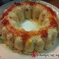 Ρύζι σε φόρμα με σάλτσα τυριού