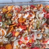 Ρεβύθια στο φούρνο με λαχανικά
