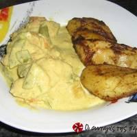 Κοτόπουλο με μουστάρδα και τυρί κρέμα
