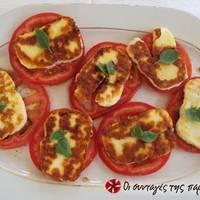 Ορεκτικό ντομάτα με χαλούμι