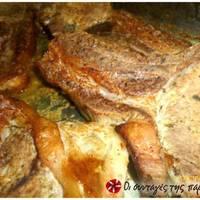 Εύκολες μπριζόλες χοιρινές στο φούρνο σα λουκούμι