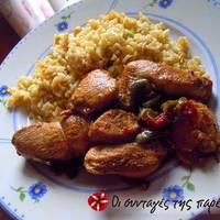 Κοτόπουλο με γλυκόξινη σάλτσα