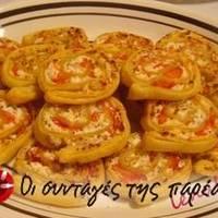 Ρολάκια σφολιάτας με τυρί