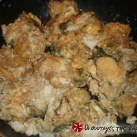 Αγρέλια (άγρια σπαράγγια) με αυγά