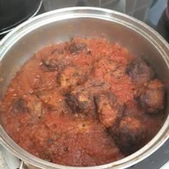 Φωτοσχόλιο για Μπιφτεκάκια κοτόπουλου κοκκινιστά