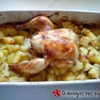 Απλό κοτόπουλο φούρνου