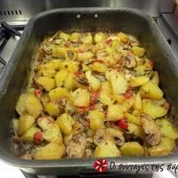 Πατάτες φούρνου με μανιτάρια