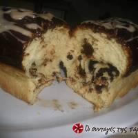 Τσουρέκι Τερκενλής με γλάσο σοκολάτας