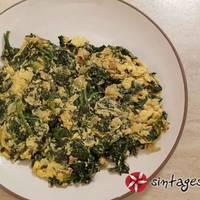 Αυγά με σπανάκι και τζίντζερ