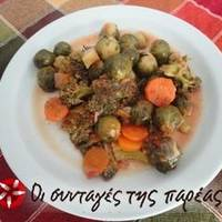 Λαχανάκια Βρυξελών με μπρόκολο