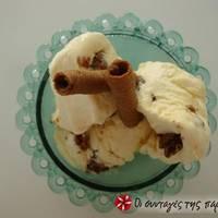 Παγωτό βανίλια με τριμμένο μπισκότο
