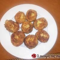 Πατατοκεφτέδες με τυρί