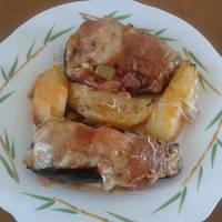 Μελιτζάνες με μανιτάρια