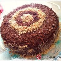 Νηστίσιμη τούρτα σοκολάτας με κρέμα χαλβά