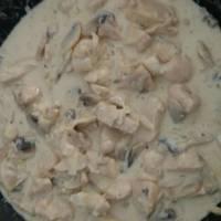 Κοτόπουλο με κρέμα γάλακτος και μουστάρδα