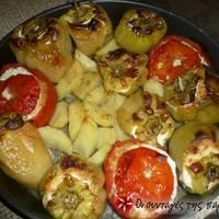 Ντομάτες γεμιστές με πληγούρι