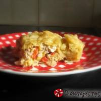 Τρομερή πίτα με κιμά και φρέσκα μανιτάρια