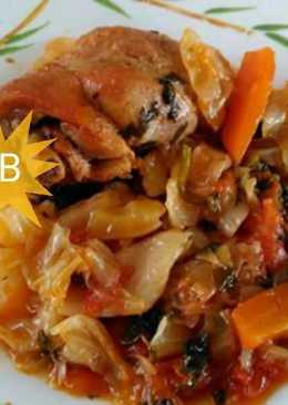 Κοτόπουλο με λάχανο