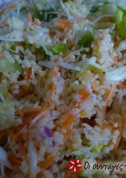 Δροσερή σαλάτα πλιγούρι με πορτοκάλι και λαχανικά