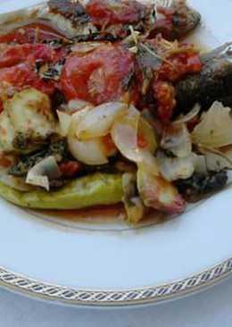 Κεφαλόπουλο στο φούρνο με λαχανικά