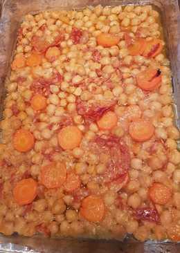 Ρεβύθια φούρνου με ισπανικό Chorizo