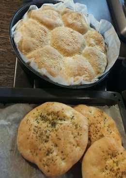 Λαγάνες και ψωμάκια με ζύμη πασπαρτού !!