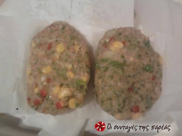 Μπιφτέκια λαχανικών φούρνου