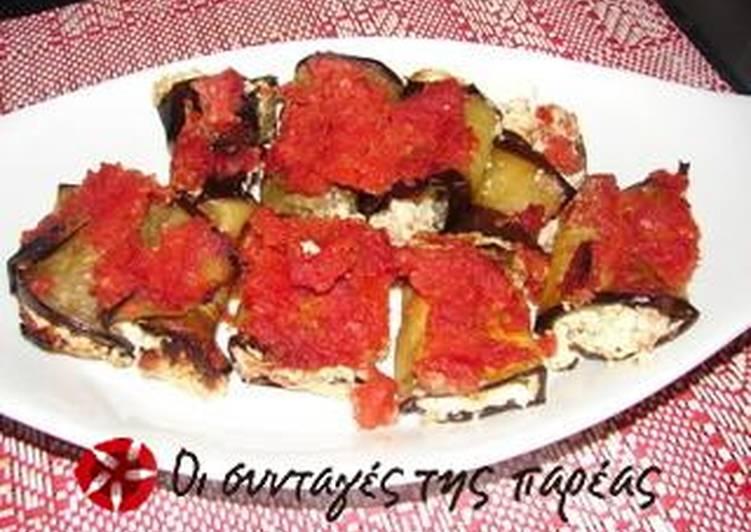 Ρολά μελιτζάνας με τυρί