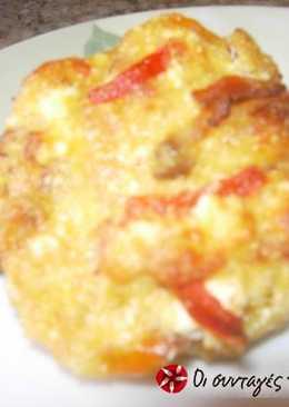 Πατάτες γεμιστές με πολύχρωμες πιπεριές
