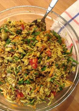 Φακοσαλάτα με ρύζι και λαχανικά