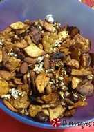 Πικάντικο μιξ ξηρών καρπών και ποπ κορν