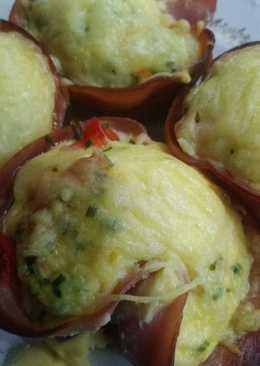 Ζαμπονοτυράκια φούρνου