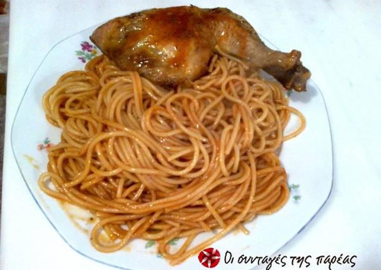 Κοτόπουλο με μακαρόνια στο φούρνο