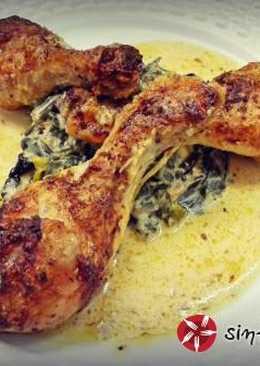 Κρεμώδες κοτόπουλο με σπανάκι