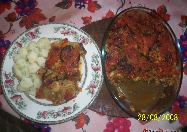 Τόνος με λαχανικά στο φούρνο