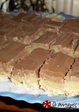 Μπισκότα με καραμέλα γάλακτος και σοκολάτα