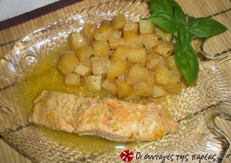 Σολομός λεμονάτος στον φούρνο